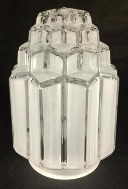 "New Art Deco Skyscraper Table Lamp Shade, 3 1/4"" Fitter, 6 1"