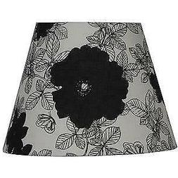 New Better Homes and Garden Black Cream Floral Accent Drum L