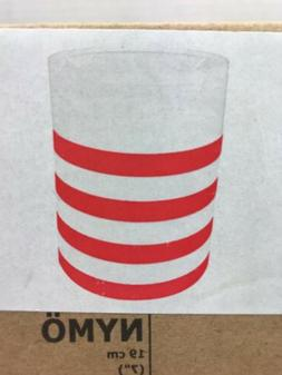 """New In Box Ikea NYMO Lamp Shade White with Red Stripes 7"""" 19"""