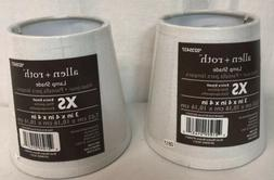 """NEW SET OF 2 Allen + Roth Lamp Shade XS Extra Small 3x4x4"""" S"""