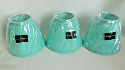 New Urbanest Turquoise Cotton Chandelier Lamp Shades 3x6x5""