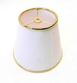 NEW White/Gold Lamp Shade Fabric Small Lampshade for Table L