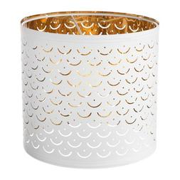 IKEA Nymo Lamp Shade White Brass Color 103.772.00 Size 9