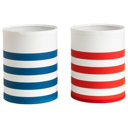 Ikea NYMO Lamp Shade White with Red Stripes or Blue Stripes