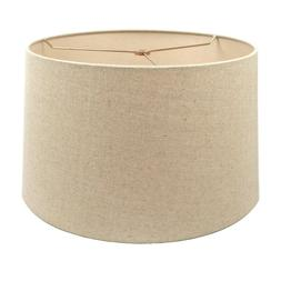 Oatmeal Fabric Hardback Drum Lampshade for Table Lamp Floor