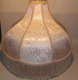 Brentwood PINK Tassel Scallop Dome Lamp Shade 6x17x12x11 SP