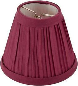 Pleated Cloth Covered Lamp Shade - Burgundy