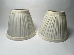 Darice Pleated Cloth Covered Lamp Shade, 2.5-Inch by 4-Inch
