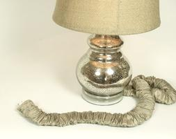 Putty Silk Lamp Cord Cover 9 ft long *Discounted Shipping wi