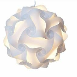Puzzle Lights Lamp Shade White Size Small Easy Assemble led