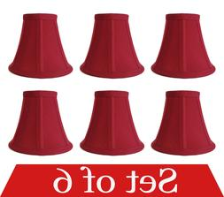 """Premium Quality 6-pack Mini Bell Lamp Shade Lampshade 5""""H Cl"""