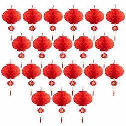 ASIAN HOME Red Paper Lantern Hanging Lanterns for Chinese Sp