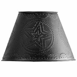 """Red Star Punched Tin 10"""" Lamp Shade"""