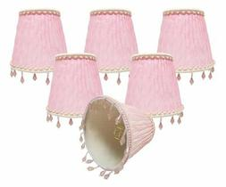 Royal Designs, Inc CSO-1037-5PNK-6 Chandelier Lamp Shades-3""
