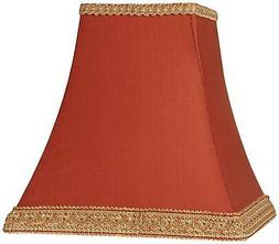 rust square sided lamp shade