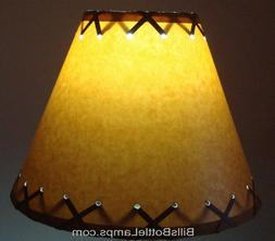 "Rustic ""Bulb Clip"" Double Laced Table Desk Light LAMP SHADE"