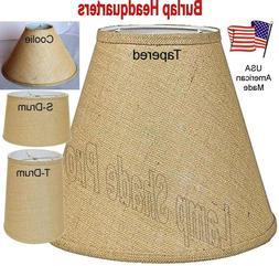 Rustic Burlap Lamp Shades Drum, Coolie, Empire, All Shapes S