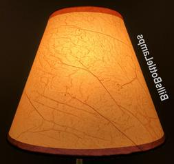 Rustic Cottage CRACKLE Table Light LAMP SHADE Clip-On Bulb S