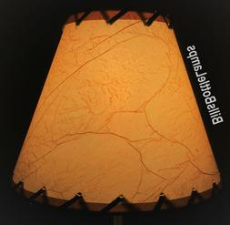 Rustic Cottage LACED CRACKLE Table Light LAMP SHADE Clip-On