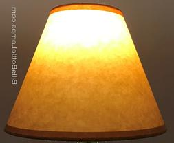 rustic cottage table light lamp shade oil