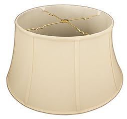 Royal Designs Shallow Drum Bell Billiotte Lamp Shade, Eggshe