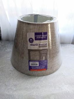 Shimmering Silver Faux Linen Lamp Shade by Better Homes & Ga