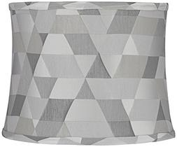 Sichuan Gray Geometric Round Lamp Shade 12x13x10