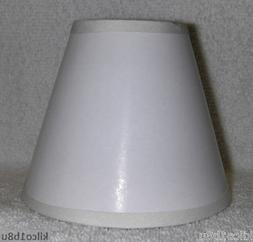 SIX  New WHITE Paper Mini Chandelier Lamp Shades, whites any