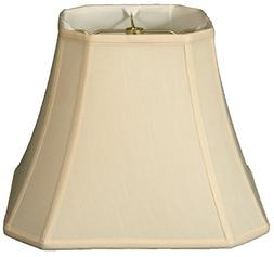 Royal Designs Square Cut Corner Bell Lamp Shade, Eggshell, 9