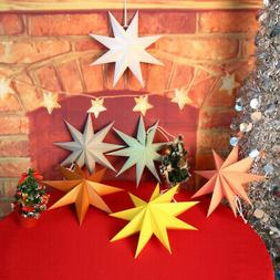 Star Shape Birthday Wedding Party Decor Paper Star Light Lam