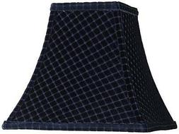 starke blue square bell lamp shade 5x10x9
