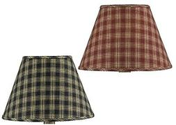 Park Designs Sturbridge Fabric Lamp Shade Black Wine Country
