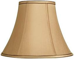 Springcrest Tan and Brown Bell Lamp Shade 7x14x11