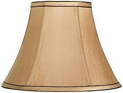 Springcrest Tan and Brown Trim Bell Shade 6x12x9