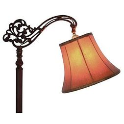 Upgradelights Tan 12 Inch Leather Bell Lamp Shade with Uno F