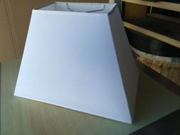 """Tapered Rectangle Fabric Lamp Shade 15"""" w  White"""