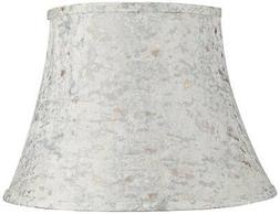 taupe w gold weave speck bell lamp
