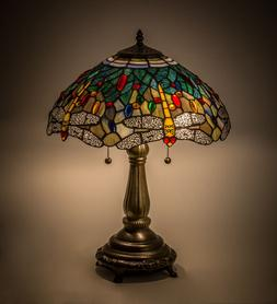 Tiffany Style Meyda Lighting 119650 Dragonfly Stained Glass