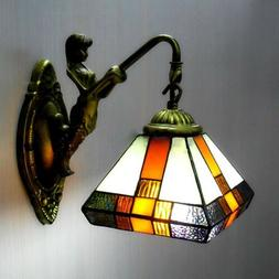 Tiffany Style Wall Mount Light Sconce Stained Glass Lamp Sha