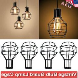 US Industrial Vintage Metal Cage Lamp Shade Ceiling Retro Pe