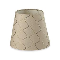 Mix & Match Small 9-Inch Wave Lamp Shade in Beige