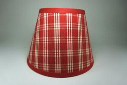 Waverly Red Cherry Cranston Plaid Cotton Fabric Lampshade La