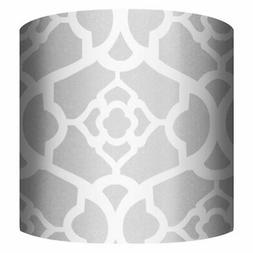 PTM Images White & Silver B Drum Lamp Shade