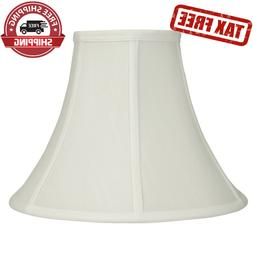 White Fabric Transitional Bell Lamp Shade - Standard Top Rin