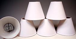 Creative Hobbies White Linen Fabric Candle Lamp Chandelier S