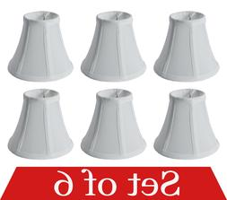 "Set of 6 Clip On 5"" Small Bell Candelabra Shades for Chandel"