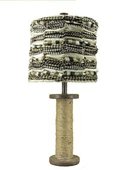 Albert Estate Ltd, Wooden Spool Table Lamp and Shade