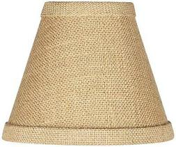 Woven Burlap Set of Four Shades 3x6x4 3/4