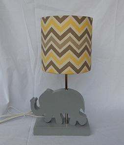 Yellow/Grey/Natural Chevron Lamp Shade