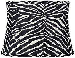 Zebra Stripe Black and White Drum Shade 14x16x11.5